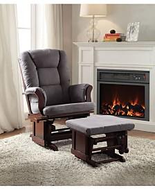 Aeron 2-Piece Glider Chair & Ottoman