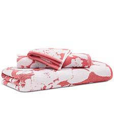 """Sanders  Antimicrobial Cotton Floral 30"""" x 56"""" Bath Towel"""
