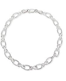 Fancy Link Chain Bracelet in Sterling Silver, Created for Macy's