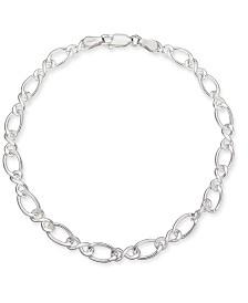 Giani Bernini Fancy Link Chain Bracelet in Sterling Silver, Created for Macy's