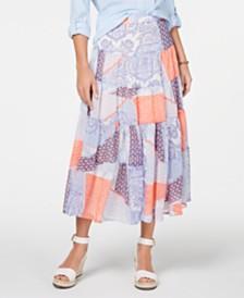 Tommy Hilfiger Patchwork-Print Skirt