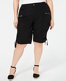 Plus Size Cargo Bermuda Shorts, Created for Macy's