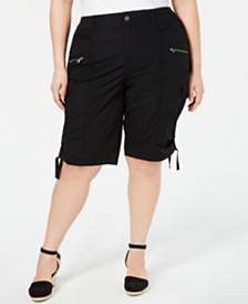 Style & Co Plus Size Cargo Bermuda Shorts, Created for Macy's