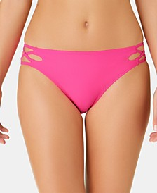 Juniors' Solid Strappy Hipster Bottoms, Created for Macy's