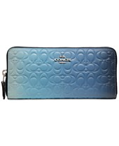 dae649e3ded2 COACH Ombre Signature Leather Accordion Zip Wallet