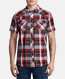 True Religion Men's Western Woven Shirt