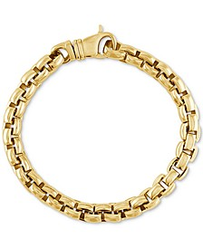 Curved Link Bracelet in Gold Ion-Plated Stainless Steel, Created for Macy's