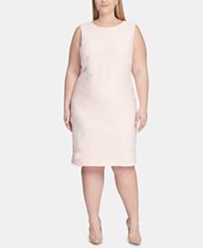 Tommy Hilfiger Plus Size Crisscross-Knit Sheath Dress