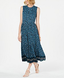 Printed Sleeveless Tiered Maxi Dress, Created for Macy's