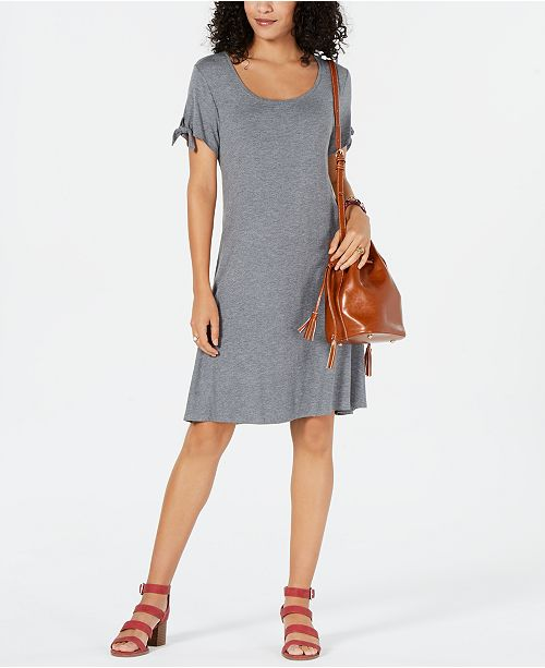 Style & Co Tie-Sleeve Dress, Created for Macy's