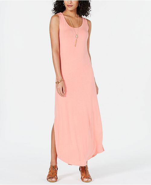 dd1992dbec3 Style   Co Petite Sleeveless Scoop-Neck Maxi Dress