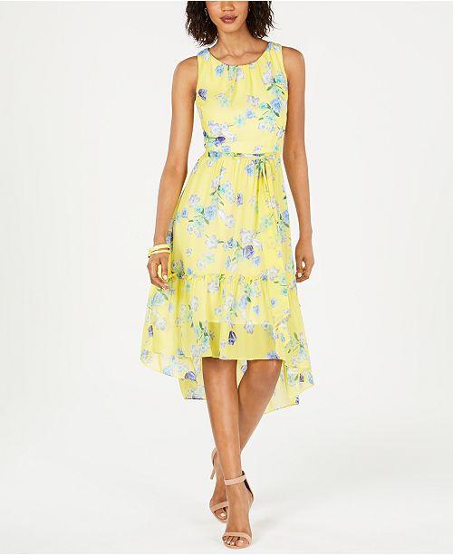 Jessica Howard Flounce-Hem Fit & Flare Dress