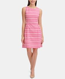 Tommy Hilfiger Petite Infinity-Stripe A-line Dress