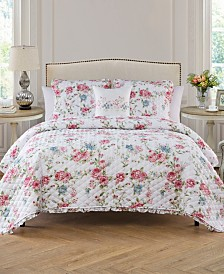 Rosette 3 Piece Twin Quilt Set
