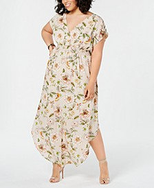 Trendy Plus Size Printed Maxi Dress