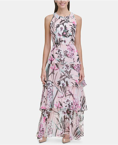 831e4aab0b9 Tommy Hilfiger Petite Tiered Floral Maxi Dress & Reviews - Dresses ...