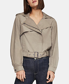 BCBGMAXAZRIA Cropped Water-Resistant Jacket