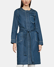 BCBGMAXAZRIA Denim Trench Coat