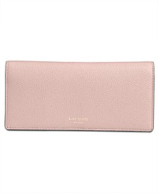 Margaux Pebble Leather Bifold Continental Wallet