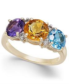 Multi-Gemstone (3-1/5 ct. t.w.) & Diamond Accent Statement Ring in 14k Gold