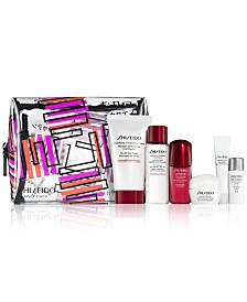 Choose your free 7-pc gift with $250 Shiseido purchase (Up to a $104 Value!)