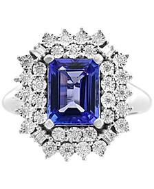 EFFY® Tanzanite (2-1/10 ct. t.w.) & Diamond (1/5 ct. t.w.) Ring in 14k White Gold