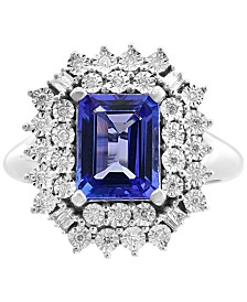 EFFY® Tanzanite (2-1/10 ct. t.w.) & Diamond (1/5 ct. t.w.) Ring in 14k White Gold