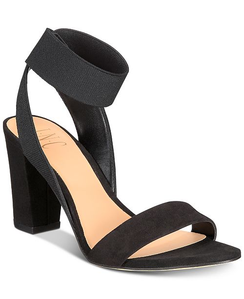 95f32e37c ... INC International Concepts I.N.C. Women s Kiernan Stretch Ankle Two-Piece  Block-Heel Sandals