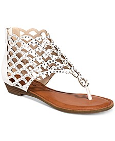 Melaa Caged Flat Thong Sandals