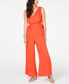 Thalia Sodi Tie-Waist V-Neck Jumpsuit, Created for Macy's
