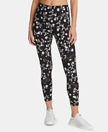 DKNY Sport Printed Mesh-Trimmed Leggings, Created for Macy's