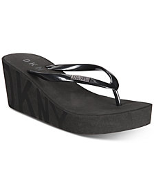 DKNY Cooper Thong Wedge Sandals, Created for Macy's