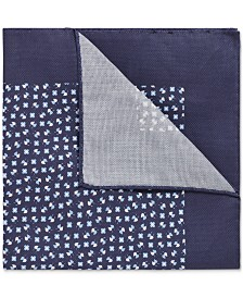 BOSS Men's Italian-Made Printed Cotton Pocket Square