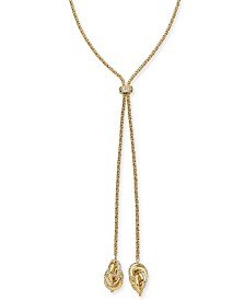 "Charter Club Gold-Tone Infinity Knot Slider Lariat Necklace, 36"" + 2"" extender, Created for Macy's"