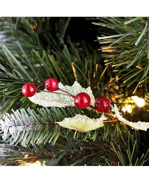 7 5 Fiber Optic Christmas Tree: Puleo International 7.5 Ft Pre-Lit Fiber Optic Premium