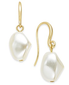 Gold-Tone Imitation Pearl Drop Earrings, Created for Macy's