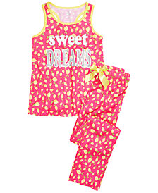 Max & Olivia Little & Big Girls 2-Pc. Lemon Pajama Set