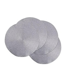 Metallic Round Woven Placemat, Set of 4