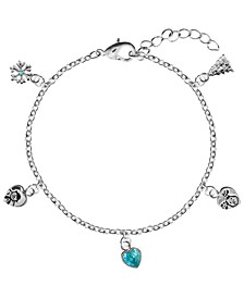 Snowman Snow and Snowdog Charm Bracelet