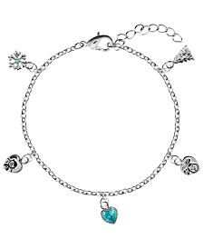 Snowman Snow and Snowdog Charm Bracelet