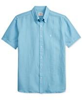 3da572c2 Brooks Brothers Men's Slim Fit Linen Blend Shirt