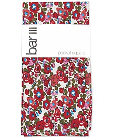 Bar III Men's Charter Floral Pocket Square, Created for Macy's