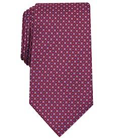 Tasso Elba Men's Medallion Print Tie, Created for Macy's