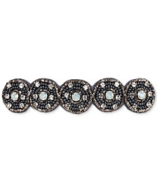 Deepa Gunmetal-Tone Crystal & Bead Hair Barrette