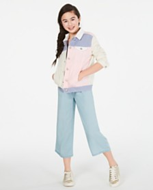Epic Threads Big Girls Colorblocked Jacket & Smocked Jumpsuit, Created for Macy's