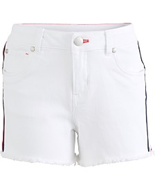 Tommy Hilfiger Big Girls Side Stripe Denim Shorts