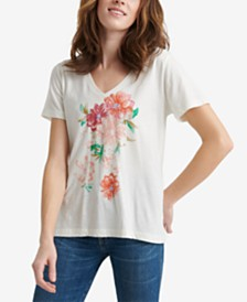 Lucky Brand Cotton Floral-Graphic T-Shirt