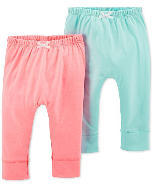 Carter's Baby Girls 2-Pk. Jogger Pants