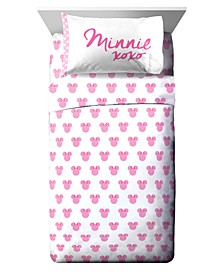 Minnie Mouse 3 Piece Twin Sheet Set