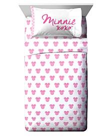 Minnie Mouse 3 Piece Twin Sheet Set